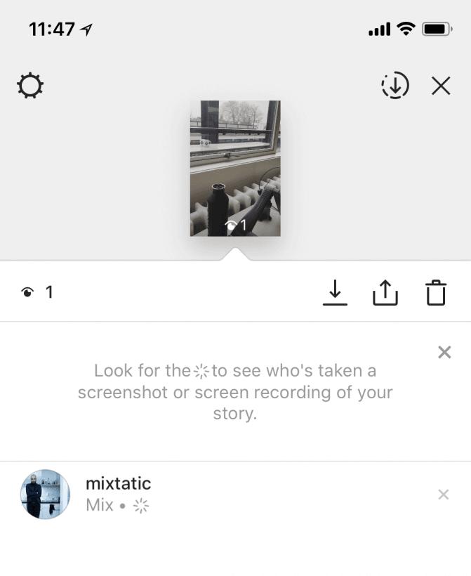 Image uploaded from iOS 3 - Instagram começa a mostrar quem tirou print dos seus Stories