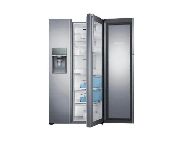 br food showcase rh77h90507h rh77h90507h az 004 front showcase open silver 720x552 - Novo refrigerador da Samsung facilita o acesso aos seus alimentos favoritos