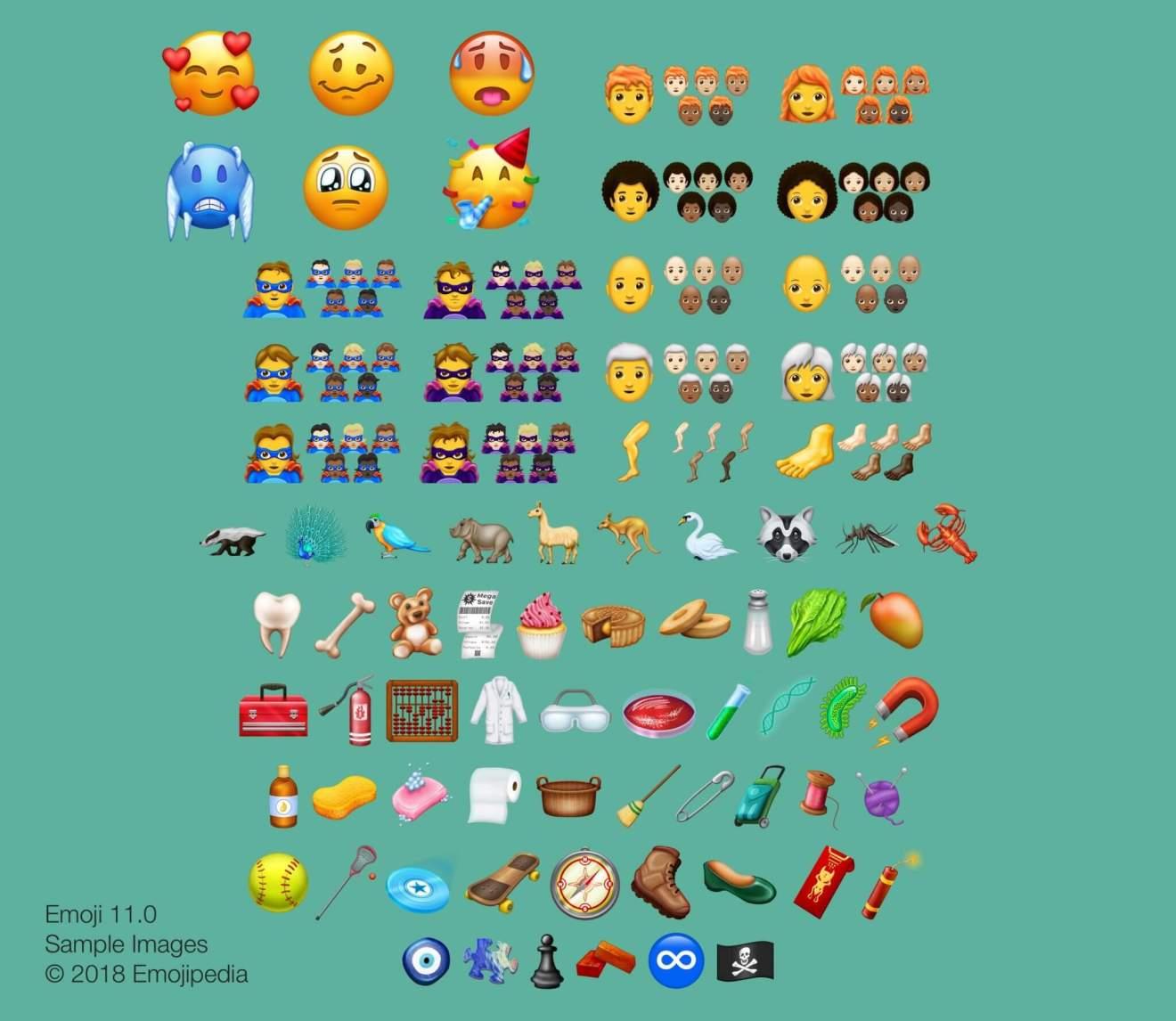 Emojipedia divulga lista completa de novos emojis para 2018 7