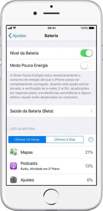 """saude - iPhone ganha novo recurso para detalhar a """"saúde da bateria"""""""