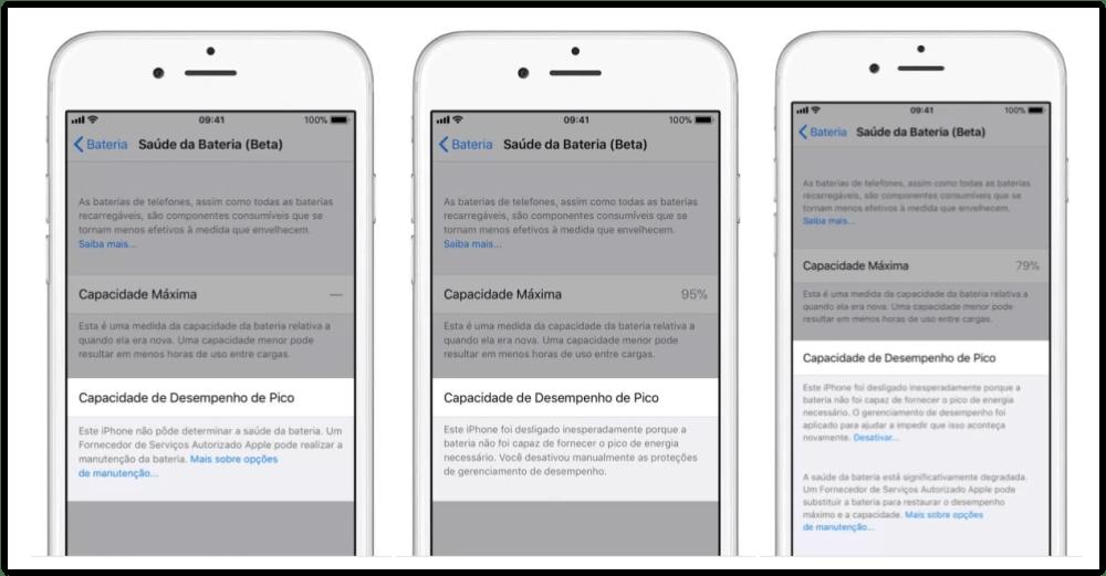 """saudedabateria - iPhone ganha novo recurso para detalhar a """"saúde da bateria"""""""