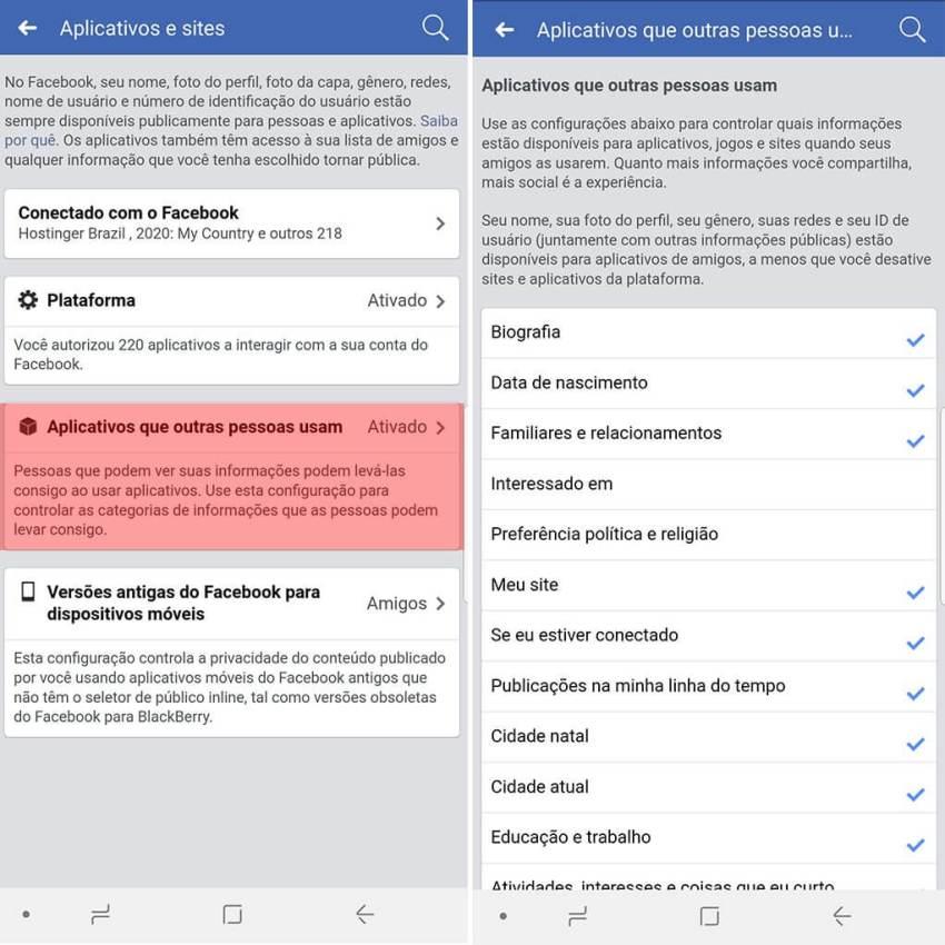 Como garantir que o Facebook não distribua seus dados 13