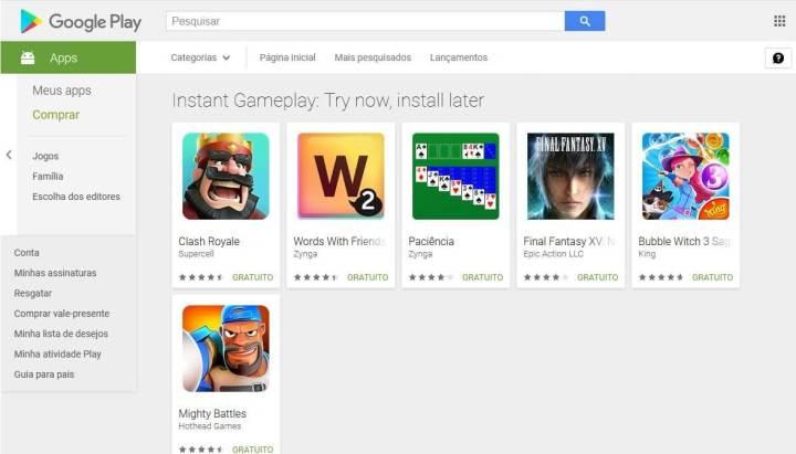 Instant Gameplay 720x411 - Instant Apps: novidade permite experimentar os jogos antes de baixar