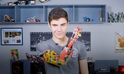 capa 3 - Jovem usa LEGO para construir braço protético