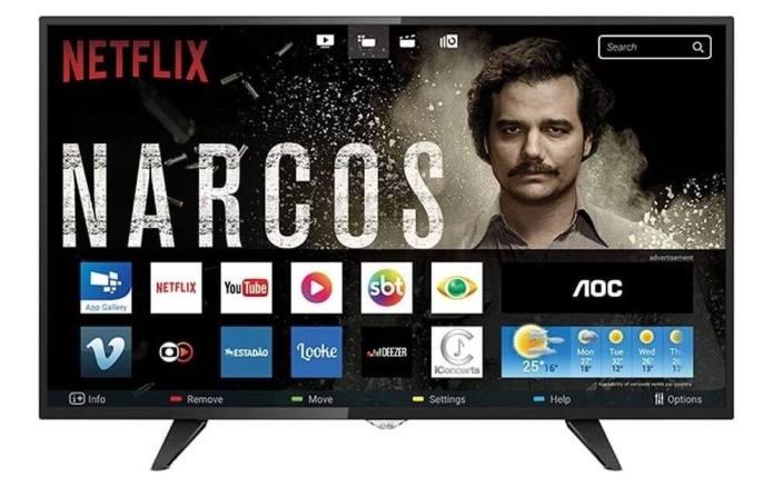 smart tv led 43 aoc le43s5970 full hd 2 usb 3 hdmi D NQ NP 928988 MLB25693507578 062017 F - Smart TV: confira os modelos mais buscados no ZOOM em março