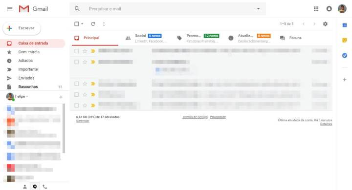 Tutorial: Como ativar o novo design do Gmail 10