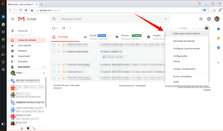 Tutorial: Como ativar o novo design do Gmail 11