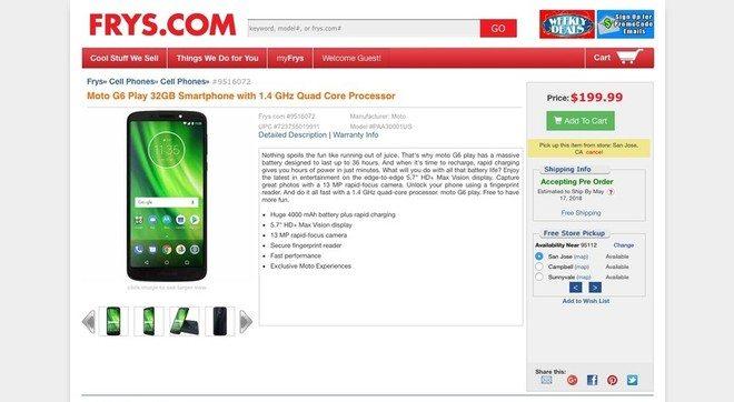 Motorola Moto G6 Play - Vazam novos detalhes do Moto Z3 Play e Moto G6