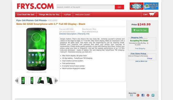 Motorola Moto G6 - Vazam novos detalhes do Moto Z3 Play e Moto G6