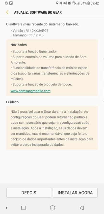 Samsung Gear IconX 2018 ganha atualização com várias novidades 8