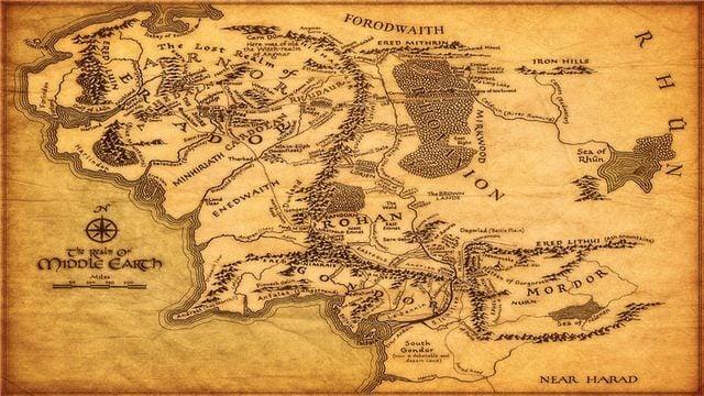 mapa da terra média - Série do Senhor dos Anéis produzida pela Amazon terá elementos dos filmes