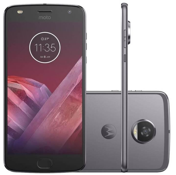 smartphone motorola moto z2 play 64gb platinumdual chip 4g cam. 12mp selfie 5mp tela 5.5 34 217782200 - Confira os smartphones mais buscados no ZOOM em março