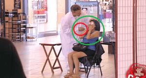 Prueba de maquillaje gratis. ¡Broma muy graciosa!