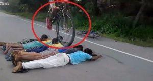 Gran caída con la bici