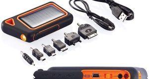 Cargador solar para móvil y mp3