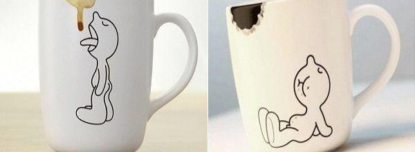 Original taza mordisco y taza relamida