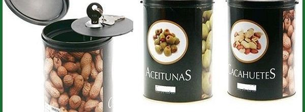 Caja fuerte con diseño de lata de comida