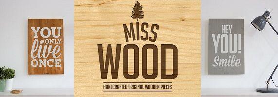 Miss madeira: cartazes de madeira originais e fotos com estilo nórdico