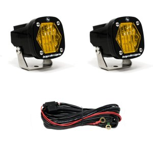 S1 Amber Wide Cornering LED Light with Mounting Bracket Pair Baja Designs