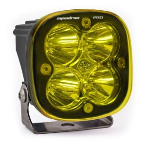 LED Light Pod Black Amber Lens Work/Scene Pattern Squadron Pro Baja Designs
