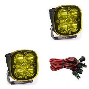 LED Light Pods Amber Lens Work/Scene Pair Squadron Sport Baja Designs