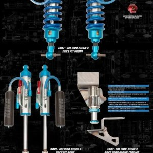 King Shocks 07-18 Chevrolet/GMC Silverado/Sierra 1500 Rear 2.0 Compact Bump Stop Kit (Pair)