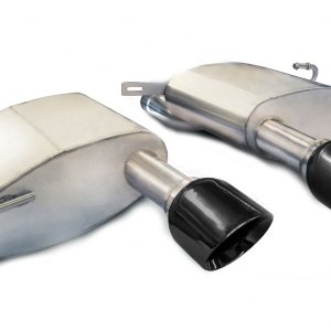 2.5 Inch Axle-Back Sport Dual Exhaust 4.5 Inch Black Tips 11-15 Cadillac CTS-V Coupe 6.2L V8 Stainless Steel Corsa Performance