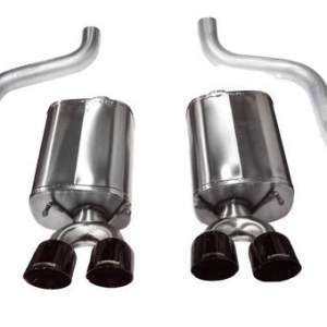 Corvette 2.5 Inch Axle-Back Dual Rear Exit with Twin 4.5 Inch Black PVD Pro-Series Tips Sport Sound 09-13 Corvette 6.2 Liter Corsa Performance
