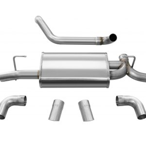 Jeep JL Axle Back Exhaust 2.5 Inch Dual Rear Exit W/Turn Down Outlets 18 Wrangler JL Sport Polished db By Corsa