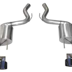 Mustang Axle-Back Exhaust System 18-19 Ford Mustang GT 5.0L V8 Black Tips 3.0 Inch W/Twin 4.0 Inch Tips Sport Sound Level