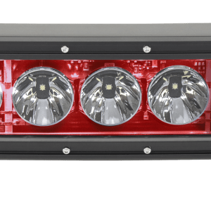 20 Inch LED Light Bar Single Row Curved Red Backlight Radiance Plus RIGID Industries