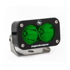LED Light Pod Spot Pattern Green S2 Pro Baja Designs