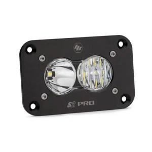 LED Work Light Flush Mount Clear Lens Driving Combo Pattern S2 Pro Baja Designs