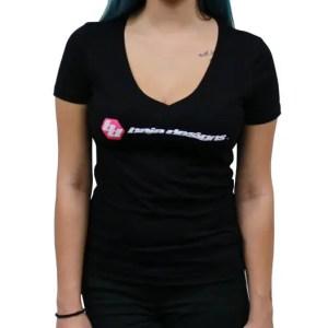 Baja Designs Black Ladies V Neck T Shirt Large Baja Designs