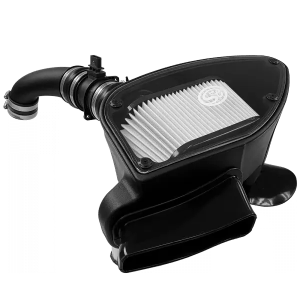 Cold Air Intake For 10-14 VW 2.0L TDI , 2015 VW Jetta 2.0L TDI Dry Extendable White S&B