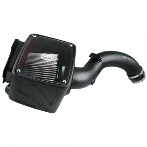 Cold Air Intake For 01-04 Chevrolet Silverado GMC Sierra V8-6.6L LB7 Duramax Dry Extendable White S&B