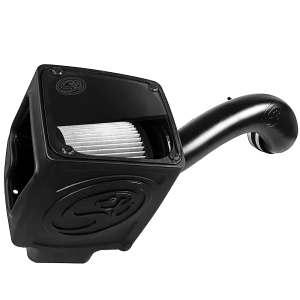 Cold Air Intake For 16-19 Silverado/Sierra 2500, 3500 6.0L Dry Extendable White S&B