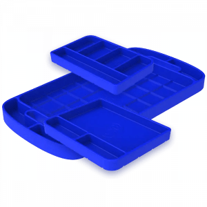 Tool Tray Silicone 3 Piece Set Color Blue S&B