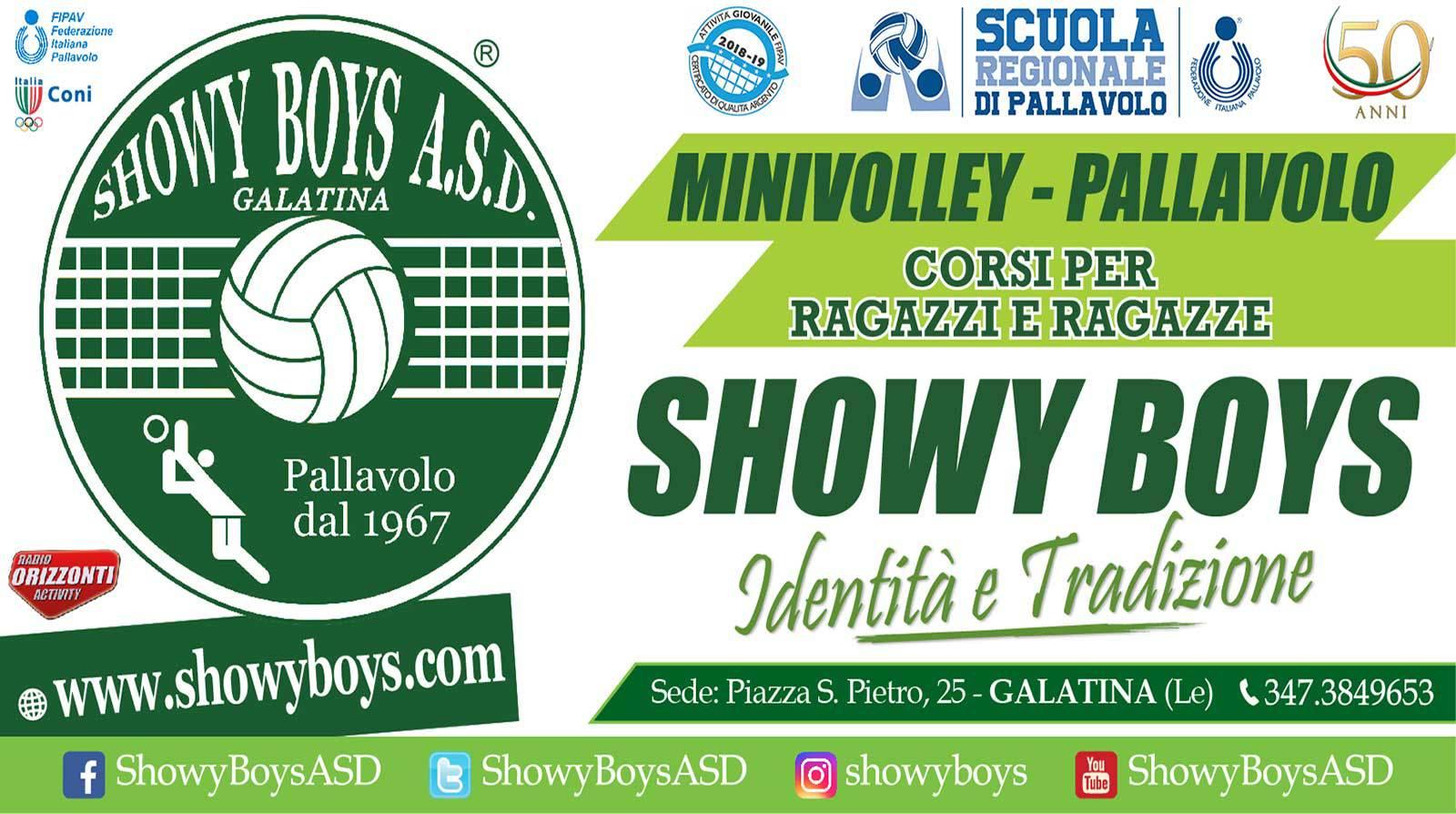 Nuovo riconoscimento Fipav alla Showy Boys