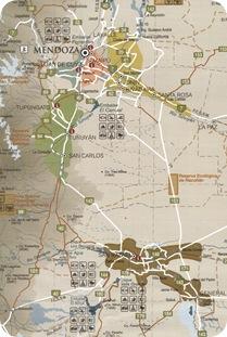Mendoza  Region map