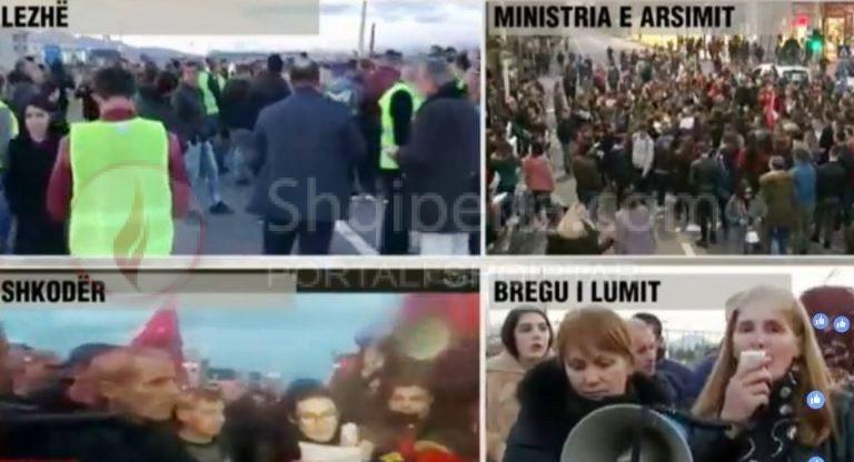 Protestat në rrethe/ Banorët bllokojnë autostradën Durrës-Rrogozhinë dhe hyrjen në Shkodër