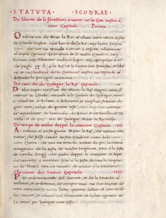 Statuset 7-shekullore të Shkodrës