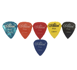 Buy Alice Guitar Picks Plectrums of Various Thickness, 6 Pieces, Assorted Colors, Best Offer