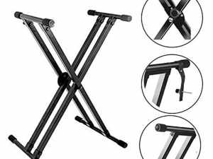 5 Locking, Kadence Keyboard Stand With Dual Braced Support Legs, Safety Lock Pin