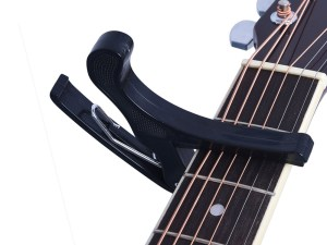 Juarez Guitar JRZ250 One Handed Trigger Guitar Metal Capo Quick Change for Ukulele, Electric And Acoustic Guitars, Black-Guitar Good Sound