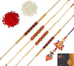 Rakhi For Brother/Rakshabandhan Rakhi/Rudraksh Rakhi/PearL Rakhi/Divine Rakhi/Rakhi Designs/Rakhi for Men/Boys/Kids-Set RUDRAKSH Rakhi With Roli Chawal/Rakhi For Brother/Rakshabandhan Rakhi/Rudraksh Rakhi/PearL Rakhi/Divine Rakhi/Rakhi Designs/Rakhi for Men/