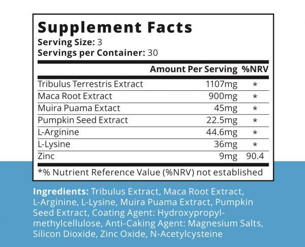Semenoll Supplement Facts
