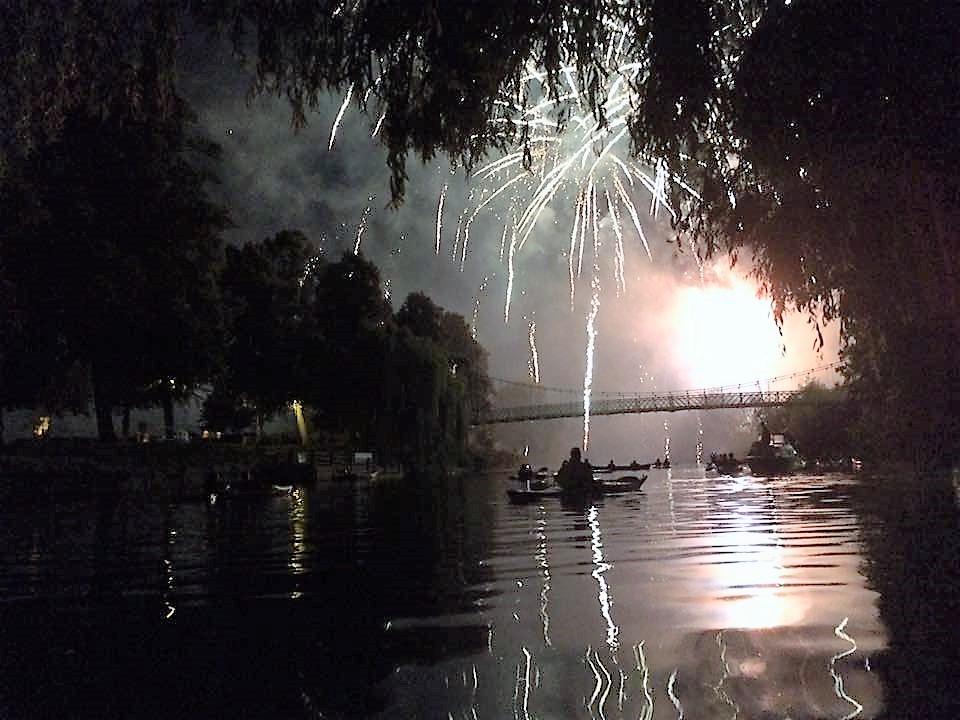 Shrewsbury Flower Show Fireworks canoe trip