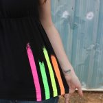 Neon Striped Summer Shirt Tutorial