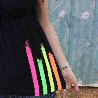 Neon Striped Summer Shirt Tutorial